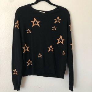 Lili's Closet Gold Star Sweater